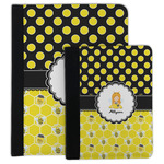 Honeycomb, Bees & Polka Dots Padfolio Clipboard (Personalized)