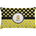 Honeycomb, Bees & Polka Dots Pillow Case (Personalized)
