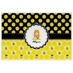 Honeycomb, Bees & Polka Dots Placemat (Laminated) (Personalized)