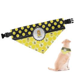 Honeycomb, Bees & Polka Dots Dog Bandana (Personalized)