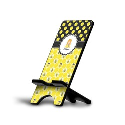 Honeycomb, Bees & Polka Dots Phone Stand (Personalized)