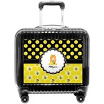 Honeycomb, Bees & Polka Dots Pilot / Flight Suitcase (Personalized)
