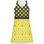Honeycomb, Bees & Polka Dots Racerback Dress (Personalized)