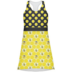 Honeycomb, Bees & Polka Dots Racerback Dress (Personalized)