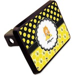 "Honeycomb, Bees & Polka Dots Rectangular Trailer Hitch Cover - 2"" (Personalized)"