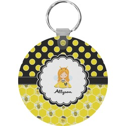 Honeycomb, Bees & Polka Dots Keychains - FRP (Personalized)