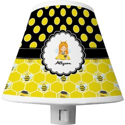 Honeycomb, Bees & Polka Dots Shade Night Light (Personalized)