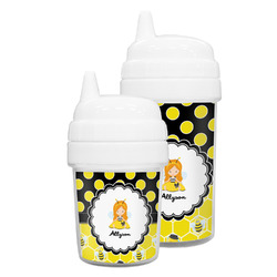 Honeycomb, Bees & Polka Dots Sippy Cup (Personalized)