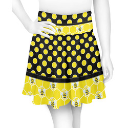 Honeycomb, Bees & Polka Dots Skater Skirt (Personalized)