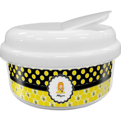 Honeycomb, Bees & Polka Dots Snack Container (Personalized)