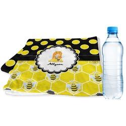 Honeycomb, Bees & Polka Dots Sports Towel (Personalized)