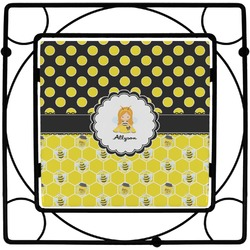 Honeycomb, Bees & Polka Dots Trivet (Personalized)