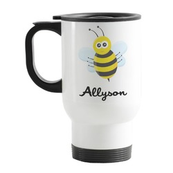 Honeycomb, Bees & Polka Dots Stainless Steel Travel Mug with Handle