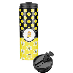 Honeycomb, Bees & Polka Dots Stainless Steel Tumbler (Personalized)