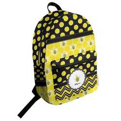 Honeycomb, Bees & Polka Dots Student Backpack (Personalized)