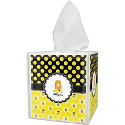 Honeycomb, Bees & Polka Dots Tissue Box Cover (Personalized)