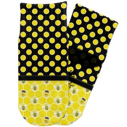 Honeycomb, Bees & Polka Dots Toddler Ankle Socks (Personalized)
