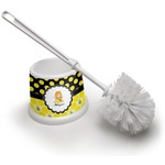 Honeycomb, Bees & Polka Dots Toilet Brush (Personalized)