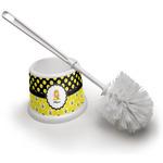 Honeycomb, Bees & Polka Dots Toilet Brush (Personalized)