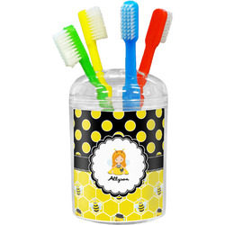 Honeycomb, Bees & Polka Dots Toothbrush Holder (Personalized)