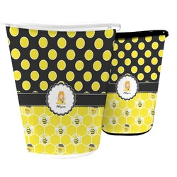 Honeycomb, Bees & Polka Dots Waste Basket (Personalized)