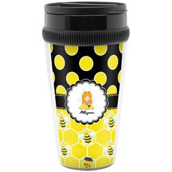 Honeycomb, Bees & Polka Dots Travel Mug (Personalized)