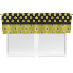 Honeycomb, Bees & Polka Dots Valance (Personalized)