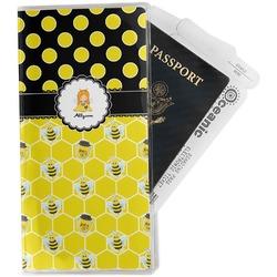 Honeycomb, Bees & Polka Dots Travel Document Holder