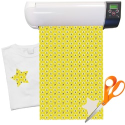 "Honeycomb, Bees & Polka Dots Heat Transfer Vinyl Sheet (12""x18"")"