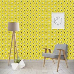 Honeycomb, Bees & Polka Dots Wallpaper & Surface Covering