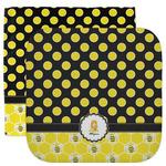 Honeycomb, Bees & Polka Dots Facecloth / Wash Cloth (Personalized)