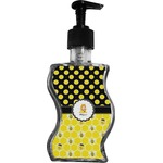 Honeycomb, Bees & Polka Dots Wave Bottle Soap / Lotion Dispenser (Personalized)