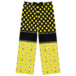 Honeycomb, Bees & Polka Dots Womens Pajama Pants (Personalized)