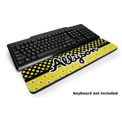 Honeycomb, Bees & Polka Dots Keyboard Wrist Rest (Personalized)