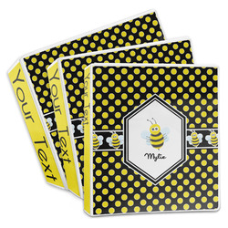 Bee & Polka Dots 3-Ring Binder (Personalized)