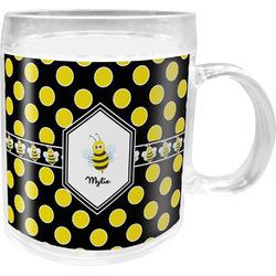 Bee & Polka Dots Acrylic Kids Mug (Personalized)
