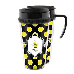 Bee & Polka Dots Acrylic Travel Mugs (Personalized)