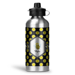 Bee & Polka Dots Water Bottle - Aluminum - 20 oz (Personalized)