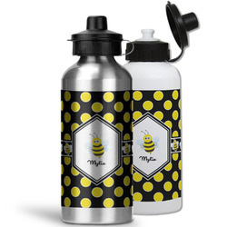 Bee & Polka Dots Water Bottles- Aluminum (Personalized)