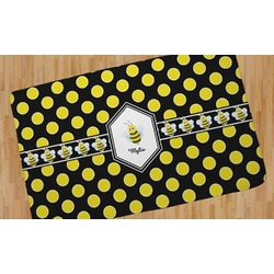 Bee & Polka Dots Area Rug (Personalized)