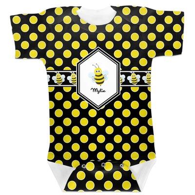 Bee & Polka Dots Baby Bodysuit (Personalized)
