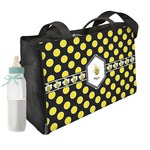 Bee & Polka Dots Diaper Bag w/ Name or Text