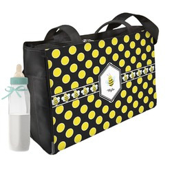 Bee & Polka Dots Diaper Bag (Personalized)