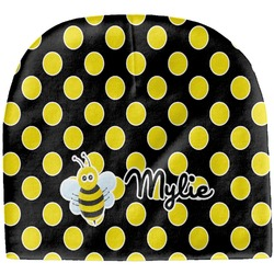 Bee & Polka Dots Baby Hat (Beanie) (Personalized)