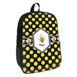 Bee & Polka Dots Kids Backpack (Personalized)