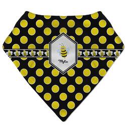 Bee & Polka Dots Bandana Bib (Personalized)