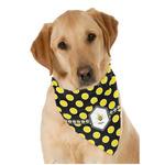 Bee & Polka Dots Dog Bandana Scarf w/ Name or Text