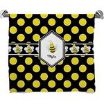 Bee & Polka Dots Bath Towel (Personalized)