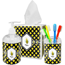 Bee & Polka Dots Bathroom Accessories Set (Personalized)