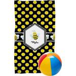 Bee & Polka Dots Beach Towel (Personalized)